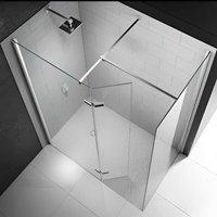 Merlyn 8 Series Hinged Walk-In Shower Enclosure, 1500mm x 800mm, 8mm Glass