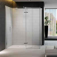 8 Series 1600 X 800 Walk In Shower Enclosure With Mstone Tray - Merlyn