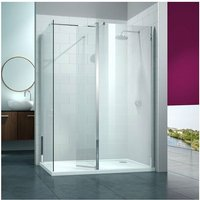 8 Series Swivel Walk-In Enclosure with End Panel, 1600mm x 800mm, Clear Glass - Merlyn