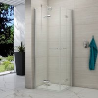 8 Series 800 X 800 Folding Corner Entry Hinged Shower Enclosure - Merlyn