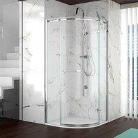 8 Series Frameless Quadrant Shower Enclosure 800mm x 800mm - 8mm Glass - Merlyn