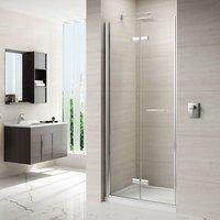 8 Series 800mm Frameless Hinged Bi Fold Shower Door - Merlyn