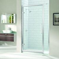 8 Series 850mm Hinged Shower Door And Inline Panel - Merlyn
