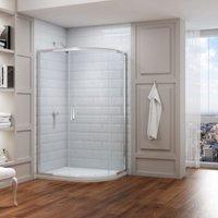 8 Series 900 X 760 Offset Quadrant Shower Enclosure - Merlyn
