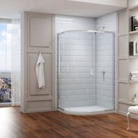 8 Series 900 X 760 Offset Quadrant Shower Enclosure And Tray Lh - Merlyn