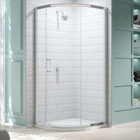 8 Series Single Quadrant Shower Enclosure 900mm x 900mm - Clear Glass - Merlyn