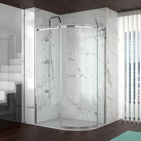 8 Series 900x760 Offset Quadrant Shower Enclosure With Tray Rh - Merlyn