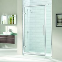 8 Series 910mm Hinged Shower Door And Inline Panel - Merlyn