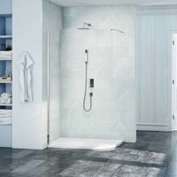 8 Series Curved Wet Room Glass with MStone Tray 1200mm x 900mm Wide RH - 8mm Glass - Merlyn