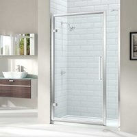 8 Series Hinged Shower Door 700mm Wide - Clear Glass - Merlyn