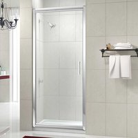 Merlyn 8 Series Infold Shower Door 1000mm with 1000mm x 800mm Tray - 8mm Glass