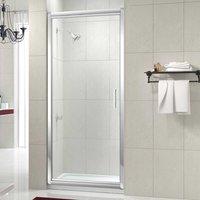 8 Series Infold Shower Door, 800mm Wide, Clear Glass - Merlyn