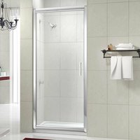 8 Series Infold Shower Door with Tray 760mm Wide - 8mm Glass - Merlyn