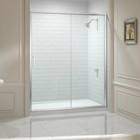8 Series Sliding Shower Door with Tray 1700mm Wide - Clear Glass - Merlyn