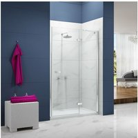 Ionic Essence Hinged Shower Door and Inline Panel, 1200mm+ Wide, 8mm Glass - Merlyn