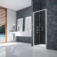 Ionic Essence Framed Bi-Fold Shower Door 760mm Wide - 8mm Glass - Merlyn