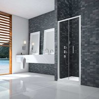 Ionic Essence Framed Bi-Fold Shower Door 900mm Wide - 8mm Glass - Merlyn