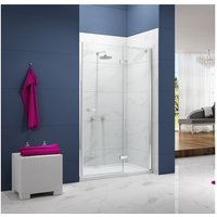 Ionic Essence Hinged Shower Door and Inline Panel, 900mm+ Wide, 8mm Glass - Merlyn