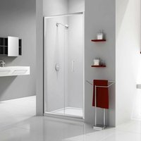 Ionic Express Bi-Fold Shower Door, 760mm Wide, 6mm Glass - Merlyn