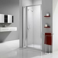 Ionic Express Bi-Fold Shower Door and Inline Panel, 1080mm-1140mm Wide, 6mm Glass - Merlyn