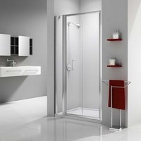 Ionic Express Bi-Fold Shower Door and Inline Panel, 980mm-1040mm Wide, 6mm Glass - Merlyn