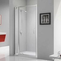 Ionic Express Pivot Shower Door and Inline Panel, 1040mm-1100mm Wide, 6mm Glass - Merlyn