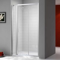 Ionic Express Sliding Shower Door and Inline Panel, 1480mm-1540mm Wide, 6mm Glass - Merlyn