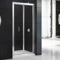 Mbox Bi-Fold Shower Door 800mm - 4mm Clear Glass - Merlyn