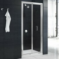 Mbox Loft Height Bi-Fold Shower Door 900mm W x 1800mm H - 4mm Clear Glass - Merlyn