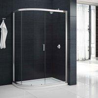 Mbox Single Offset Quadrant Shower Enclosure 1000mm x 800mm - 6mm Glass - Merlyn
