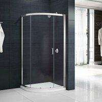 Mbox Single Quadrant Shower Enclosure 900mm x 900mm - 6mm Glass - Merlyn