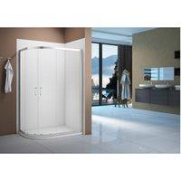 Merlyn Vivid Boost 1000x800mm 2 Door Offset Quadrant Shower Enclosure - BATHROOMS TO LOVE