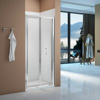 Vibrance Bi-Fold Shower Door 800mm Wide - 6mm Glass - Signature