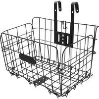 Mesh Front Basket Storage Basket Shopping Carrier Bike Black
