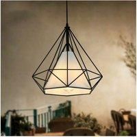 Metal Cage Pendant Light Industrial Hanging Light Diamond Ce