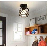 Stoex - Metal Chandelier Antique Industrial Ceiling Lamp Retro Chandelier Creative Black Modern Ceiling Light E27