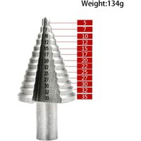 Metal Conical Drill Bit 5mm-35mm Stepped Drill Bit, Titanium Triangle Conical with Titanium Coating, for Screwdriver Drill on Steel, Brass, Wood,