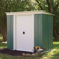 6 x 4 Metal Pent Shed with sliding doors