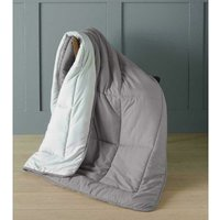 Country Club - Micro-touch Reversible Grey Quick Quilt Plush Combi Quilted Throw Blanket Bed Throw