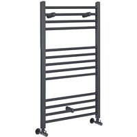 Milano Artle - 1000mm x 400mm Modern Flat Bar Heated Towel Rail Radiator – Anthracite