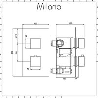 Arvo - Modern 2 Outlet Twin Diverter Thermostatic Concealed Mixer Shower Valve - Chrome - Milano