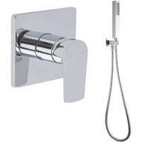 Hunston - Modern Chrome Manual Mixer Shower Valve with Hand Shower Handset - Milano