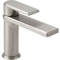 Ashurst - Modern Mono Basin Mixer Tap with Lever Handle - Brushed Nickel - Milano