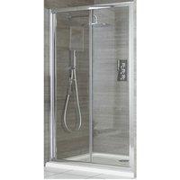 Portland - 800mm Bifold Reversible Folding Shower Enclosure Door - Chrome - Milano
