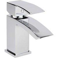 Wick - Modern Bathroom Mono Basin Mixer Tap - Chrome - Milano