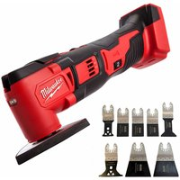 Milwaukee M18BMT-0 M18 18V Compact Multi Tool Body With 8 Piece Accessories Set
