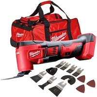 Milwaukee M18BMT-0 M18 18V Multi Tool with 39 Piece Accessories Set and Tool Bag