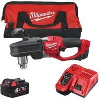 M18CRAD-0 18V Angle Drill with 1 x 5.0Ah Battery and Fast Charger in Bag:18V - Milwaukee