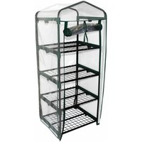 Mini 130cm Tall 4 Shelves / Tiers Garden Greenhouse Green House