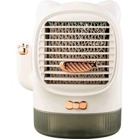 Asupermall - Mini Air Conditioner Fan Portable Table Lucky Cat Water Cooling Fan with Aroma Night Light Speeds for Home Office,model: 02